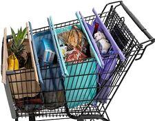 Lotus Trolley Bag Shopping Cart Reusable Grocery 4 Bag Set Insulated washable