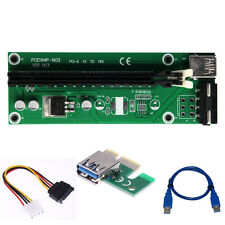 USB 3.0 PCI-E Express 1x To 16x Extender Riser Card Adapter Power Mining Cable