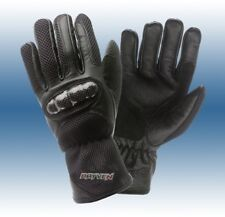 Rayven Air-Tech Summer Black Leather Motorcycle Motorbike Glove Clearance Small