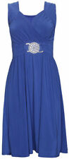 Vestiti da donna blu senza maniche, taglia 44