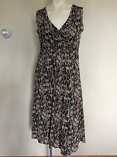 Nine & Co. Nine West S Small Brown Sleeveless Dress Lined Stretchy