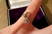 Schöner 925 Silber Ring Modern Zirkonia Schleife Sterling Knoten Elegant Chic