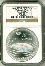 1976 S$10 Canada Montreal Olympics Velodrome NGC MS68