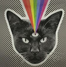 NEVER SHOUT NEVER Black Cat HOT TOPIC LIMITED Black, White & Clear Swirl