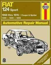 Fiat 124 Sport 1968 thru 1978: Coupe & Spider: 1400: 1600: 1800: By Haynes, John