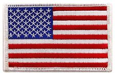"""Usa Us American Flag Logo Embroidered Patch Sew on Iron On Applique 3.4"""" x 2.1"""""""