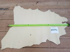 Cream Custard Whole Goat Skin Leather 0.6-0.8mm Thick Good Quality Genuine EB376
