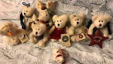 Boyds Bears Lot/8 Plush Christmas Ornaments