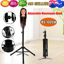 Hair Hairdressing Wig Pratice Head Holder Iron Tripod Makeup Mannequin Stand AU