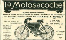 Publicité ancienne la motosacoche 1908 issue de magazine