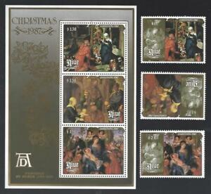 NIUE: Christmas 1987. Albrecht Durer Painting. Stamps and Min. Sheet. MNH.