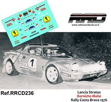 DECAL/CALCA 1/43; Lancia Stratos; Darniche-Mahe; Rally Costa Brava 1976