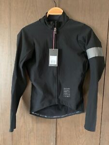 Rapha Pro Team Shadow Long Sleeve Jersey - black, mens small, made in Italy