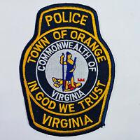Orange Police Virginia VA Patch (B8)