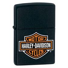 Zippo Lighter - Harley Davidson - Black with Shield