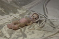 Full Body Porcelain Doll Piano Baby