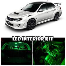 04-11 Subaru Impreza WRX STI Interior Xenon GREEN LED Bulb Full Package (QTY X7)