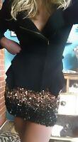 AJE Sequin Embellished Ombre Skirt Sz 6