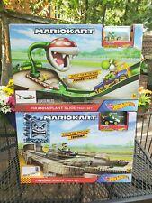 Hot Wheels Mario Kart Lot: Piranha Plant & Thwomp Ruins Track Set