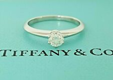 Tiffany & Co 0.30 ct Platinum Round Brilliant Diamond Solitaire Engagement Ring