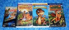 4 The Land Before Time VHS Video Tapes with Sing Along Excellent Tested