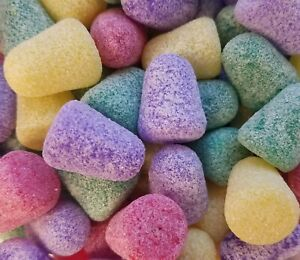 100 Pcs Large Assorted Sugared Gum Drop Candy Gumdrop Christmas Craft Beads VTG