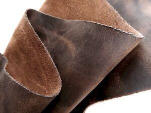 Lederhaut FETTLEDER BRAUN 170x80 2,0mm Rindleder Dickleder Büffel Stier Kuh DIY