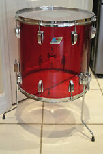 """1970's LUDWIG 16"""" CLASSIC RED VISTALITE FLOOR TOM for YOUR DRUM SET! LOT #G266"""