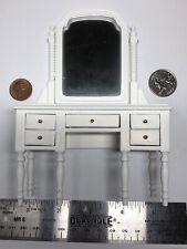 1:12 Town Square Miniature Dollhouse Furniture White Vanity Flip Mirror #S