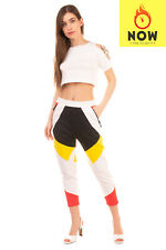 RRP €665 DSQUARED2 Sweat Trousers Size S Colour Block Zipped Cuffs Made in Italy