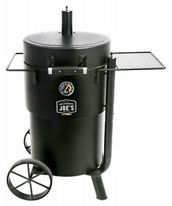 19202089 Oklahoma Joe's Bronco Barrel Drum Smoker, Porcelain-Coated Steel,