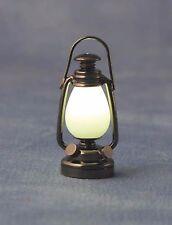 Escala 1/12TH Casa De Muñecas Estilo Antiguo De Metal LED Linterna con batería