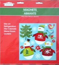 New Christmas House Refrigerator, Car, Dishwasher, Metal Doors Magnets ~ SNOWMEN