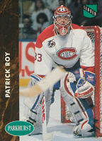 Patrick Roy 1991-92 Parkhurst #442 Montreal Canadiens Hockey Card