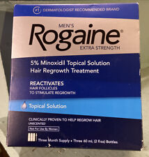 Rogaine Mens Extra Strength 5% Minoxidil topical Solution 3 Month Supply 12/22