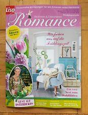 NEU Magazin LISA WOHNEN & DEKORIEREN ROMANCE Haus Deko Heft Ostern Interieur