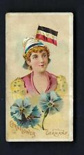 More details for johnson - national flags and flowers, girls - germany, cornflower (very rare)