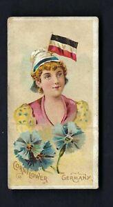 JOHNSON - NATIONAL FLAGS AND FLOWERS, GIRLS - GERMANY, CORNFLOWER (VERY RARE)