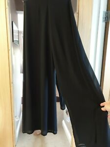 Whistles Flared High Waisted Trousers Chiffon with 2 layers Size 6