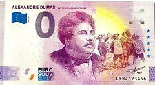 BILLET 0 EURO ALEXANDRE DUMAS  ANNIVERSARY FRANCE  2021 NUMERO DIVERS
