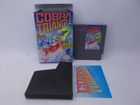 Cobra Triangle For Nintendo Entertainment System NES W/ Box Manual Sleeve