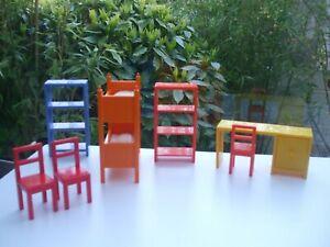 VINTAGE LOT  MEUBLES MINIATURES MAISON DE POUPEE  IKEA