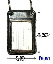ID Card Holder Black With Neck Strap