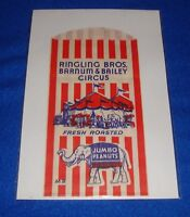 Vintage Ringling Bros. Barnum & Bailey Circus Peanut Bag New Old Stock