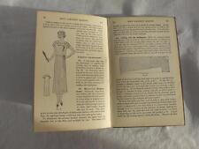 "VINTAGE 1920's WOMANS INSTITUTE ""FIRST STEPS DRESSMAKING"" NEEDLEWORK SEWING BOOK"