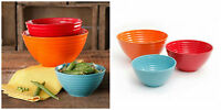 The Pioneer Woman Mixing Bowls Flea Market 3 Piece Ceramic  Assorted Colors NEW