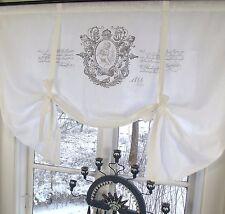 Raff Gardine JEANNE Rollo 100x100 weiß LillaBelle Shabby Vintage Curtain