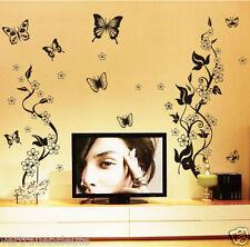 1 Wandtattoo 3 Kombinationen Blumen Blumenranke Wandaufkleber Wohnzimmer Sticker
