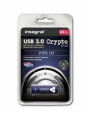 Integral 64GB CRYPTO DUAL USB 3.0 Encyrpted Flash Drive with FIPS 197 Security.