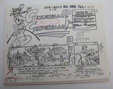 "ALVIN & THE CHIPMUNKS / 1986 TV Storyboards Script ""Cinderella? Cinderella?"""